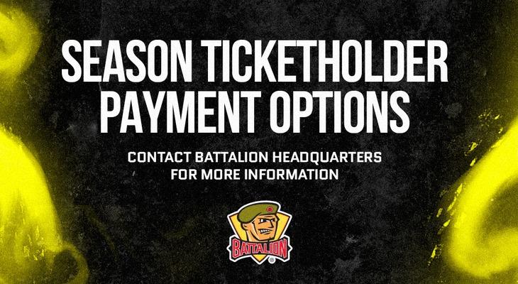 Season Ticketholder Payment Option