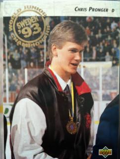 Chris Pronger World Junior gold medal hockey card