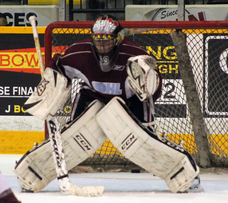 Hunter Jones at the 2016 Petes Development Camp.