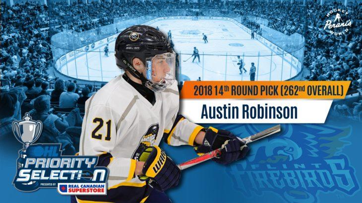 Austin Robinson Flint Firebirds OHL Hockey