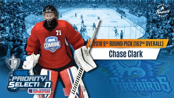 Chase Clark Flint Firebirds OHL Hockey