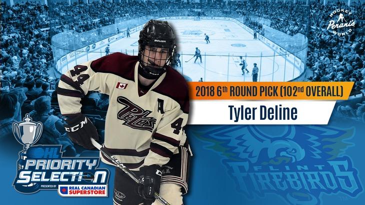 Tyler Deline Flint Firebirds OHL Hockey