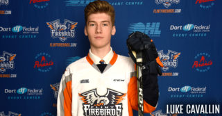 Flint Firebirds 2017 Second Round OHL Draft Pick Luke Cavallin