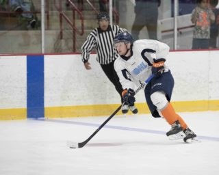 Phillips officiating the Flint Firebirds annual Blue vs. White Training Camp Game