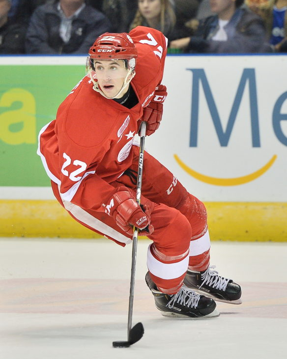 Liam Hawel of the Sault Ste. Marie Greyhounds. Photo by Terry Wilson / OHL Images.