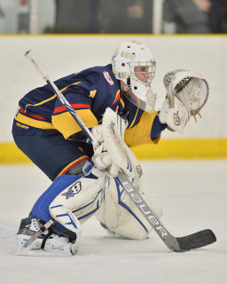 Jacob Ingram of the Barrie Jr. Colts. Photo by Terry Wilson / OHL Images.
