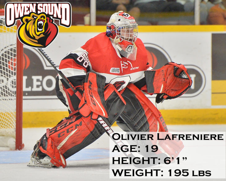 Olivier Lafreniere of the Ottawa 67's. Photo by Terry Wilson / O