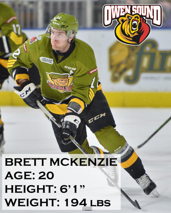 Brett McKenzie of the North Bay Battalion. Photo by Terry Wilson