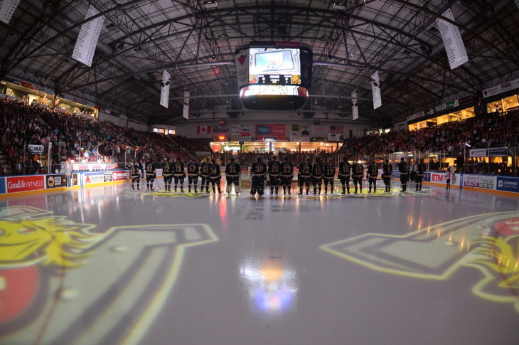 Barrie Colts of the Ontario Hockey League. Photo by Terry Wilson / OHL Images.