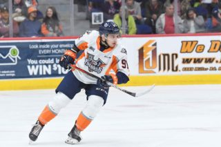 Flint Firebirds' forward Evgeniy Oksentyuk is ranked #109 among North American Skaters to be selected in the NHL Draft.