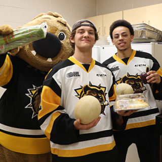 Healthy food delivered by the Hamilton Bulldogs