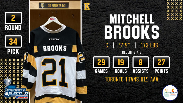 Mitchell Brooks, Centre, Toronto Titans U16 AAA