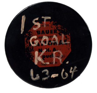 1963, 1st goal puck in franchise history