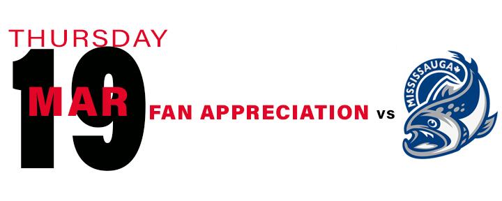 PROMOTIONAL Schedule - Fan Appreciation