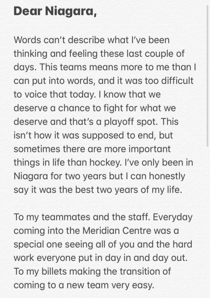 Dear Niagara,