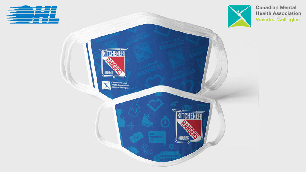 Rangers Supporting Cmha While Fighting Spread Of Covid 19 Through Face Mask Fundraiser Ontario Hockey League