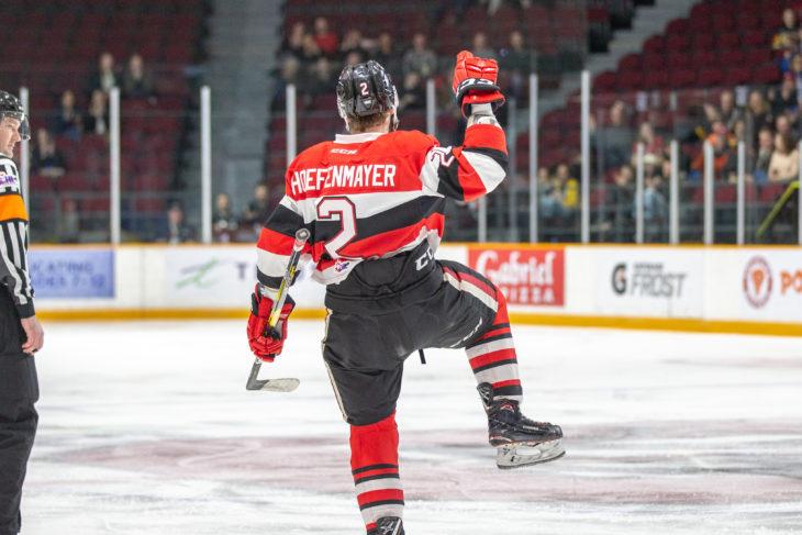 Kyle Maksimonich scores a hat trick, Sasha Chmelevski scores twice to pace the Ottawa 67's to an 8-1 win over Hamilton.