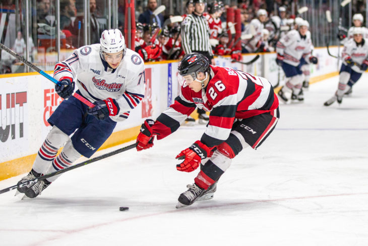 The Ottawa 67's clinch first place in the Eastern Conference with a 4-1 victory over Oshawa.