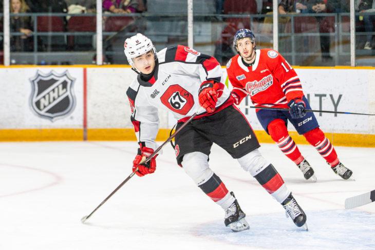 Ottawa 67's drop the game 3-2 on a terrible non-tripping call on Oshawa. Stinky.