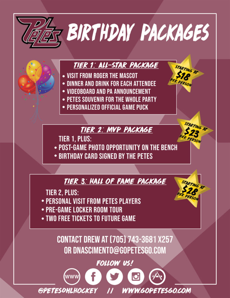 2019 Birthday package
