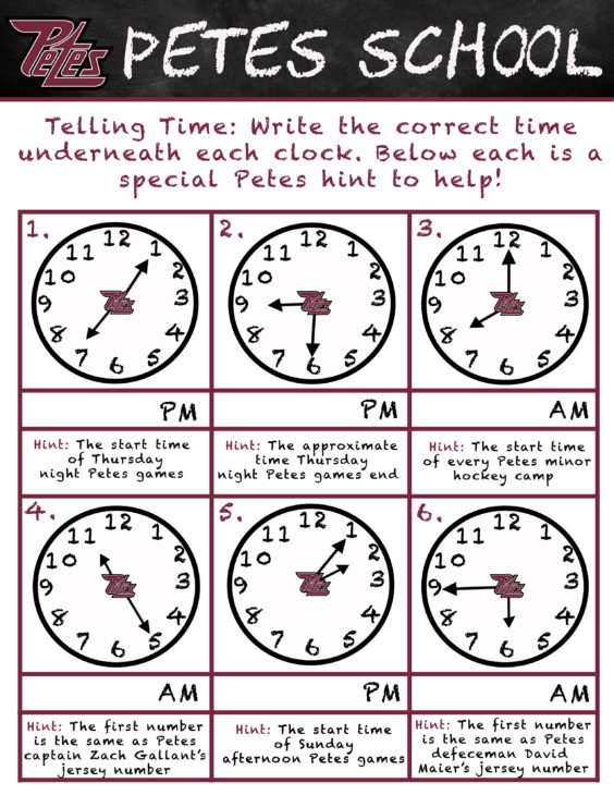 Petes School- Telling Time