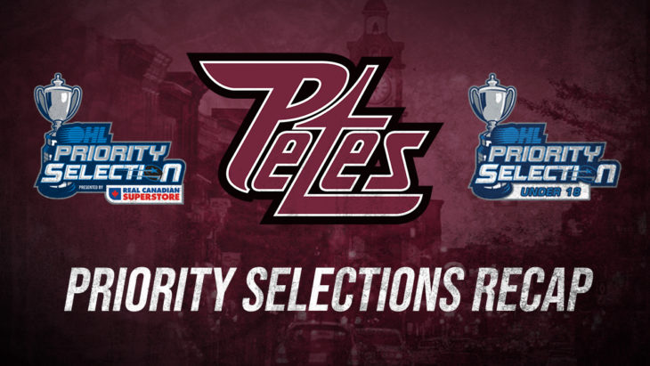 Petes OHL and U18 Draft Logos Header 2020