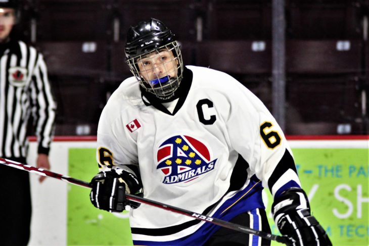 Sam Alfano captained the Southern Tier Admirals Triple-A minor midget team and is expected to go in the first round of Saturday's Ontario Hockey League Priority Selection Draft. Tim Cornett/OHL Images
