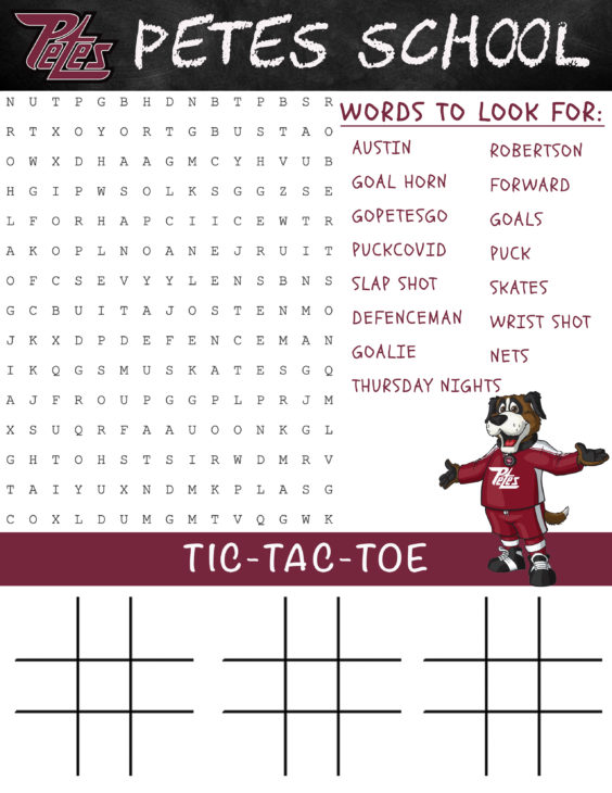 Word search and tic-tac-toe