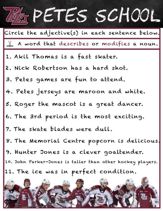 Petes School- Adjectives