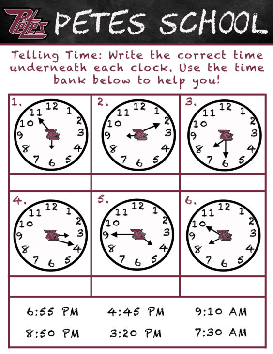 Petes School- Telling Time (3)