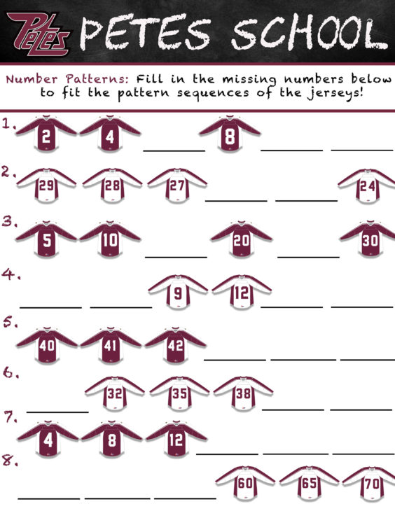 Petes School-Number Patterns