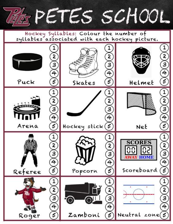 Petes School- Hockey Syllables
