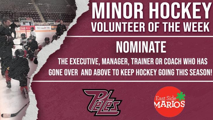Minor Hockey Volunteer nom FB