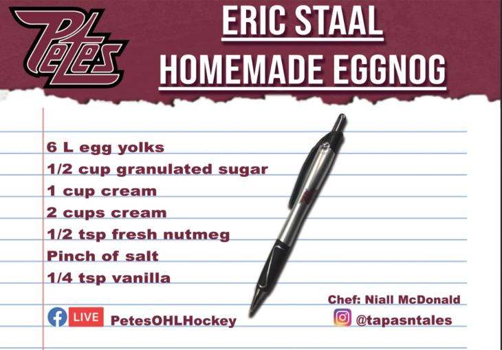 Eric Staal homemade eggnog