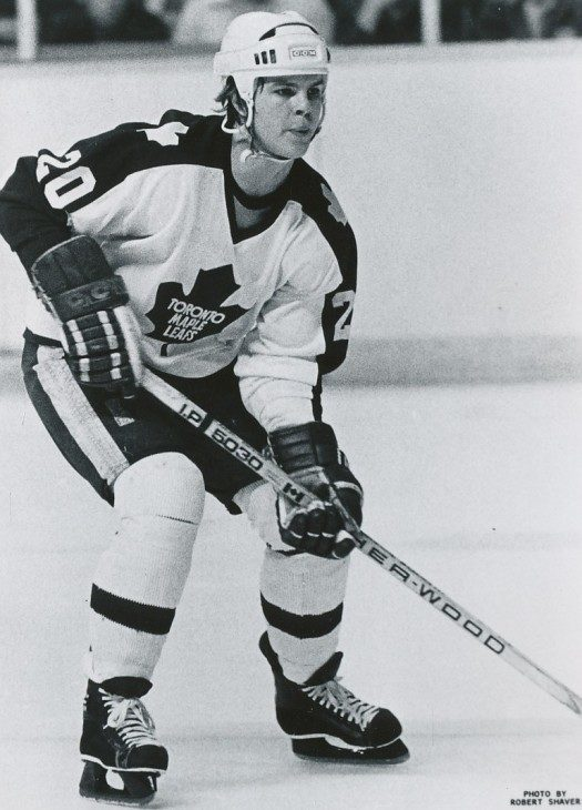 Mark Kirton, shown here playing for the Toronto Maple Leafs during the 1980-81 season, appeared in 266 career NHL games and scored 57 goals from 1979 to 1985. He retired in 1989. (Photo: Robert Shaver, Buffalo Sabres)