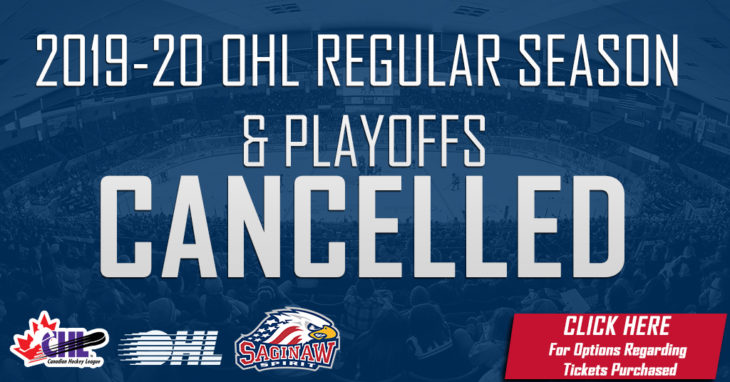 OHL Cancelled 2020 Drop Down