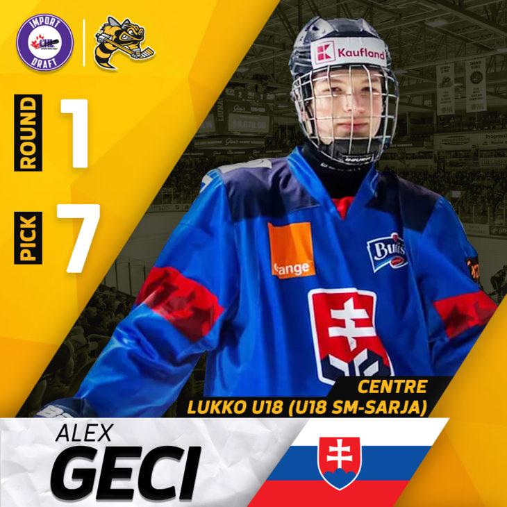 Alex Geci - 7th Overall Import Draft