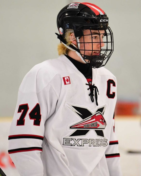Holmes, Jacob of the York Simcoe Express. Photo by Dan Hickling OHL Images